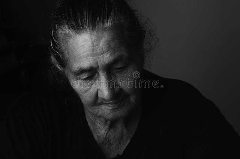 Portrait of elderly woman royalty free stock images