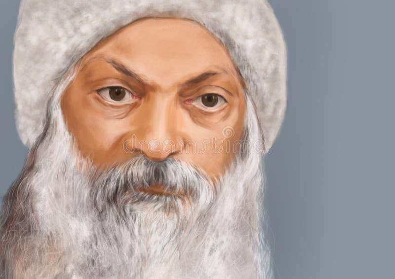 Portrait of an eldery man stock image