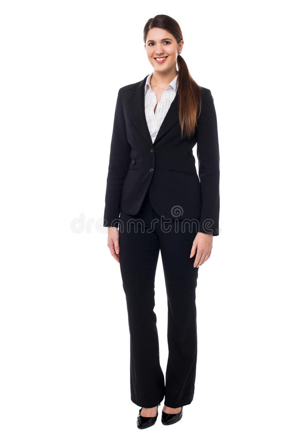 Portrait of an elegant business employer stock photography