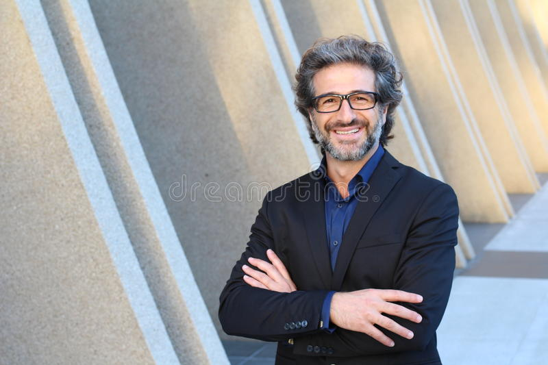 Portrait of an elegant CEO smiling royalty free stock photography