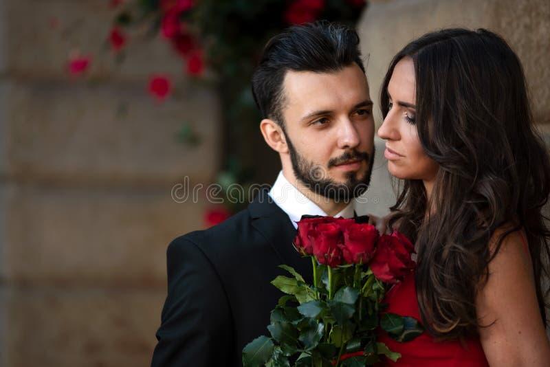 Romantic elegant couple royalty free stock image
