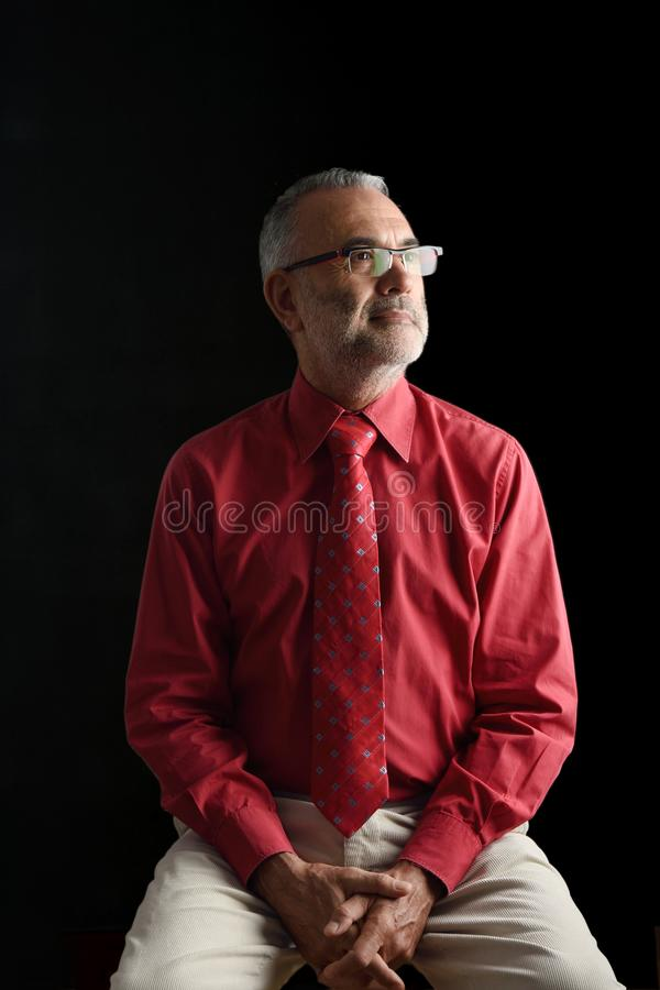 A Portrait of an elegant mature man, royalty free stock photos
