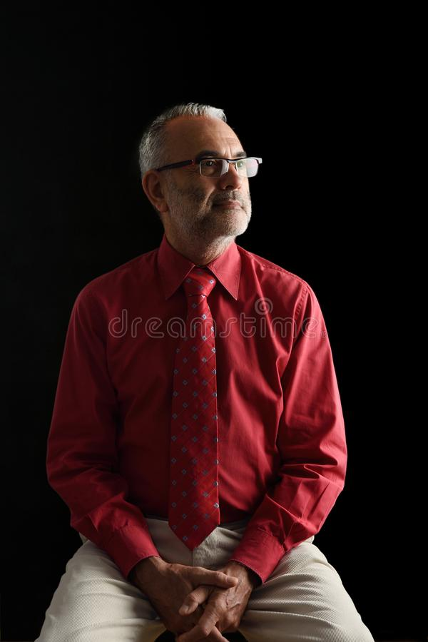 A Portrait of an elegant mature man, stock images