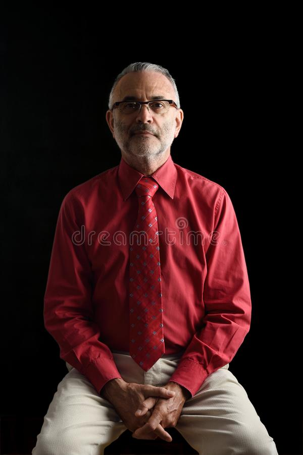 A Portrait of an elegant mature man, royalty free stock images