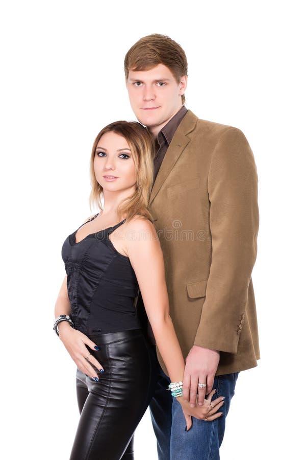 Portrait of elegant man and woman stock image