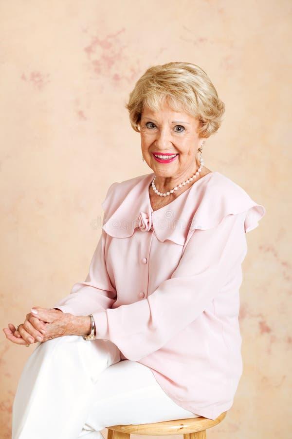 Portrait of Elegant Senior Lady royalty free stock photo