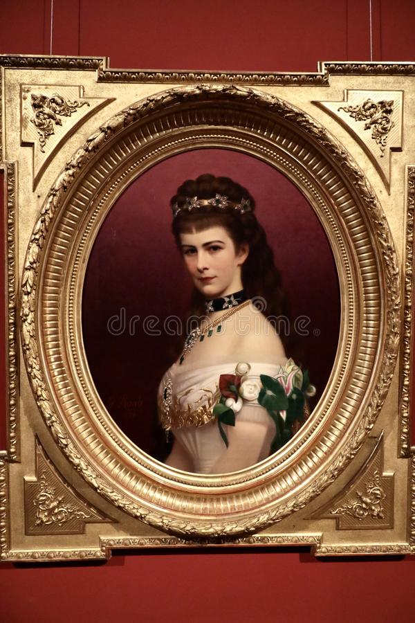 Portrait of Elisabeth of Bavaria. Elisabeth of Bavaria was Empress of Austria and Queen of Hungary by marriage to Emperor Franz Joseph I, Nicknamed Sisi royalty free stock photography