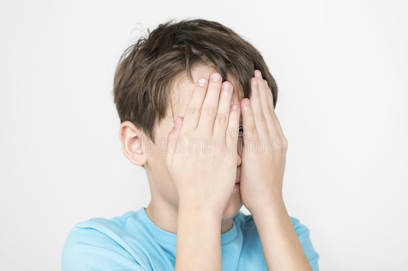 Portrait Of An Emotional Boy Stock Image - Image of smile ...