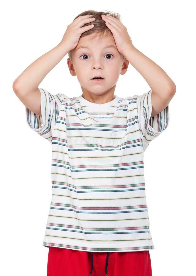 Portrait of emotionally kid royalty free stock photos