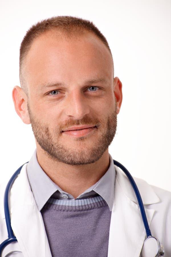 Portrait en gros plan de docteur beau photographie stock