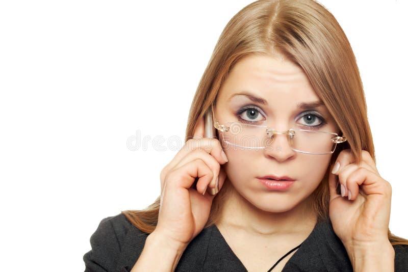 Portrait en gros plan de jeune blonde photo libre de droits