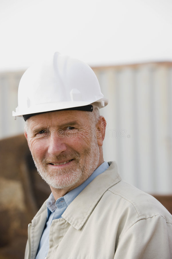 A portrait of an engineer royalty free stock images
