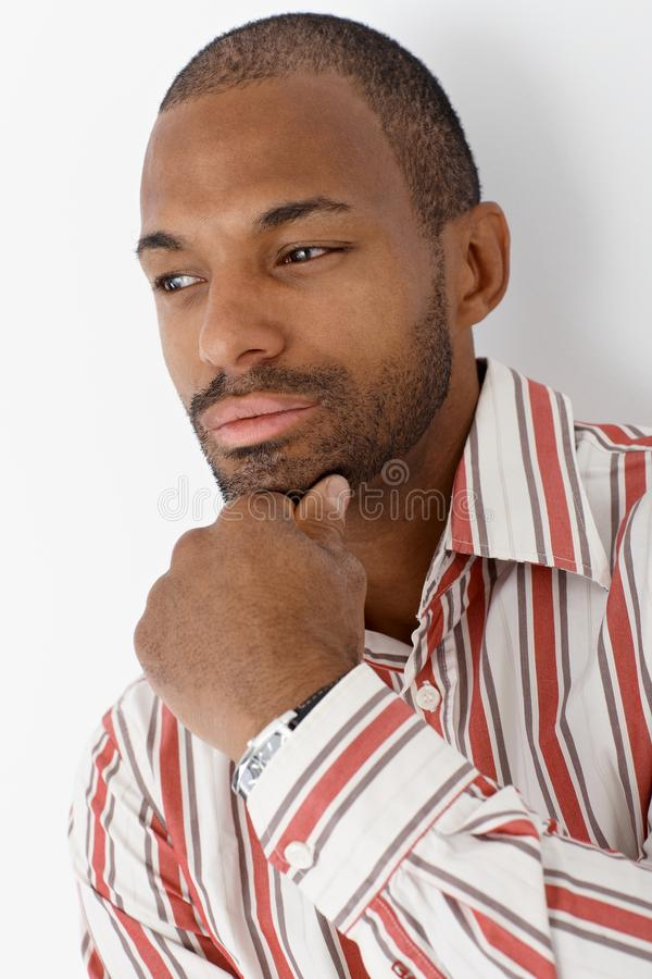 Download Portrait Of Ethnic Man Thinking Stock Photo - Image: 23376214