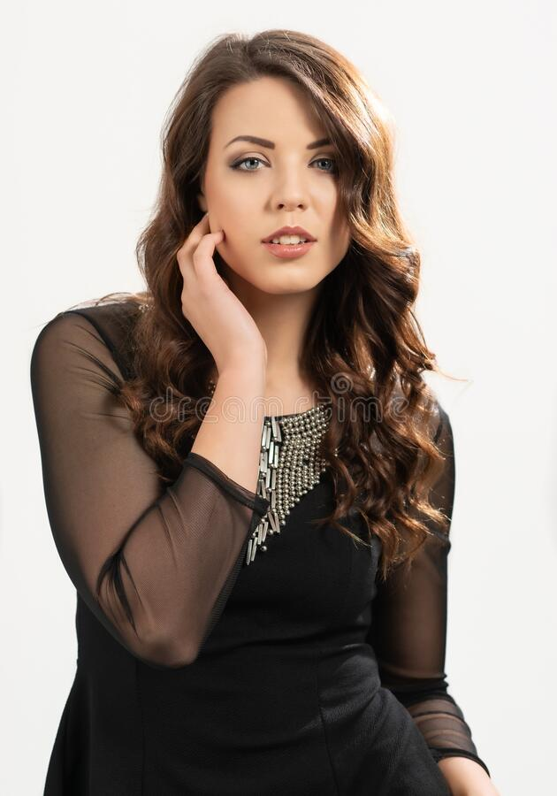 Portrait Of European Woman stock photo