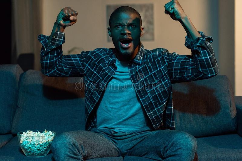 portrait of excited african american man royalty free stock photo