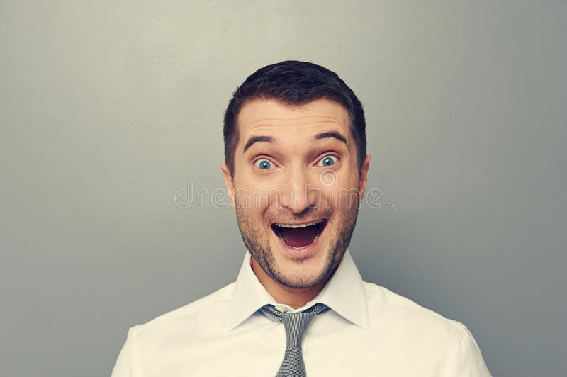 Download Portrait Of Excited Businessman Stock Photo - Image: 33190600