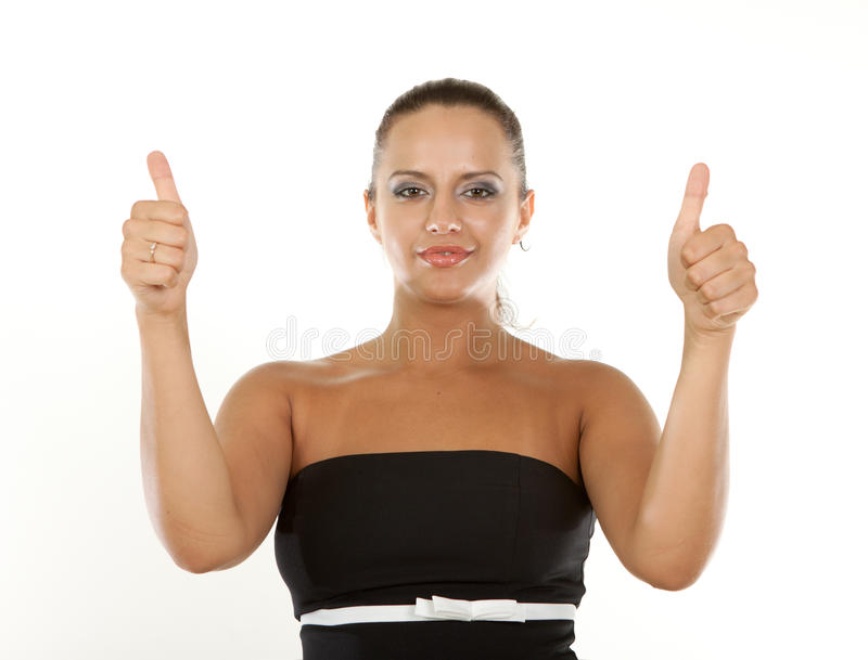 Portrait Of A Excited Businesswoman Stock Images
