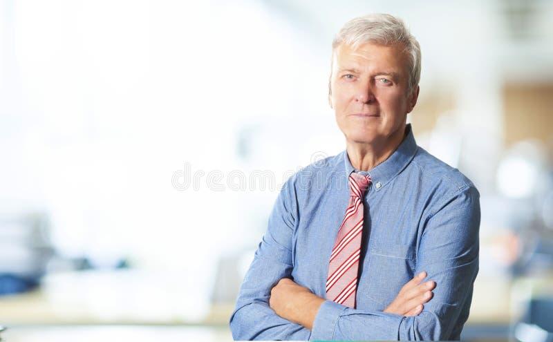 Senior manager portrait royalty free stock image