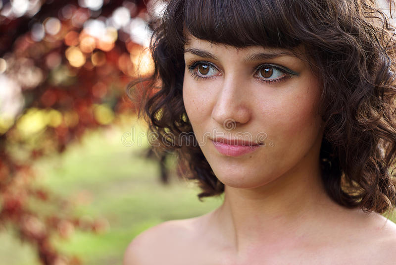 Portrait extérieur photo stock