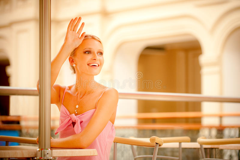 Portrait of fair-haired girl royalty free stock image