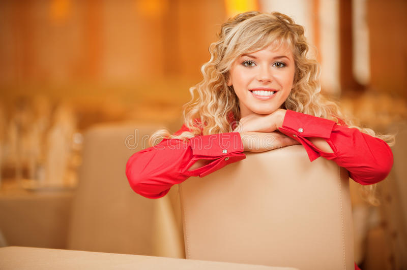 Download Portrait Of Fair-haired Young Woman Stock Image - Image: 19343215