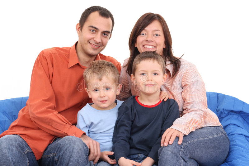 Download Portrait of family stock image. Image of kids, children - 3663063