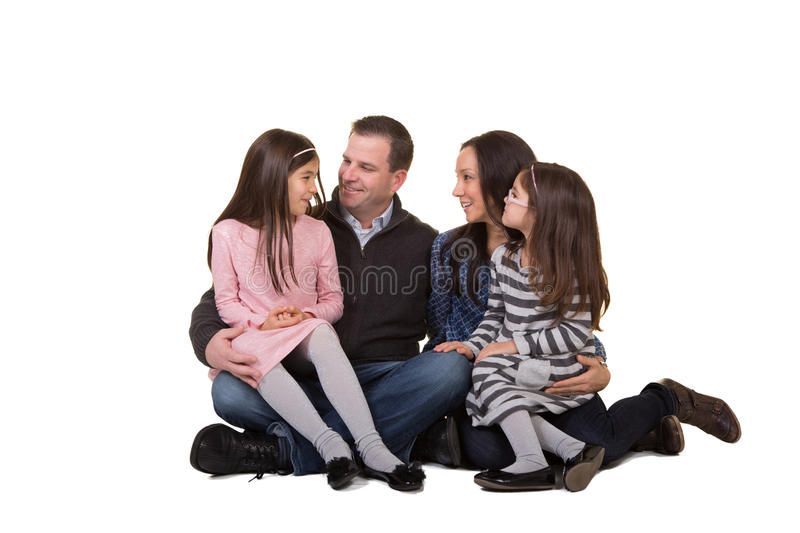 Portrait of a family stock image