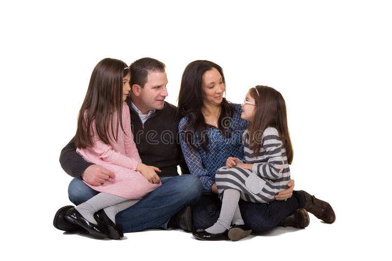 Portrait of a family royalty free stock photo