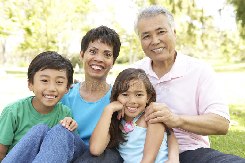 Download Portrait Of Family In Park stock photo. Image of families - 12405438