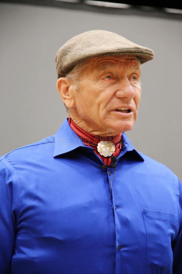 Portrait of the famous american horse instructor legend Monty Roberts aka the real whisperer stock photography