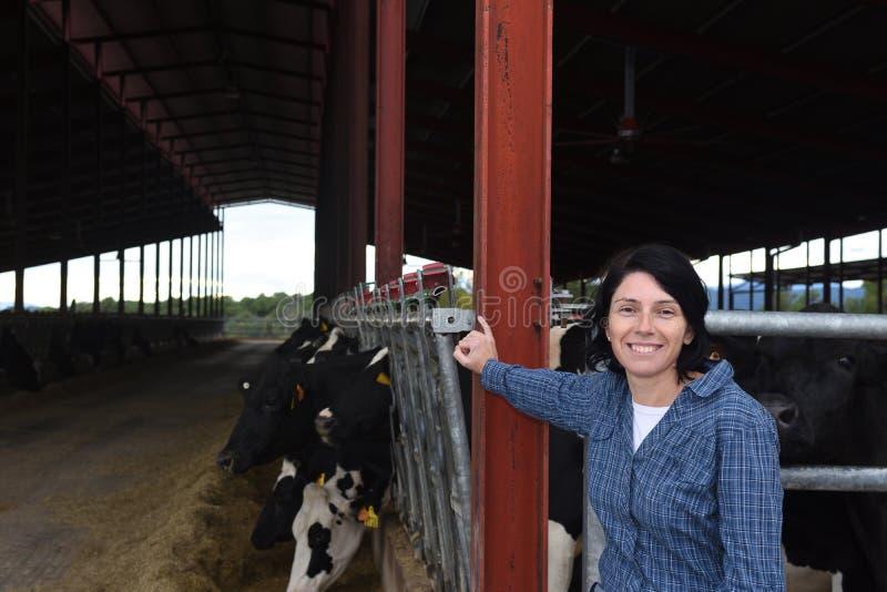 Portrait of a farm woman stock image