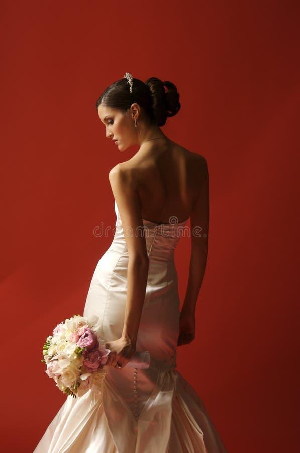 A portrait of a fashion bride stock images