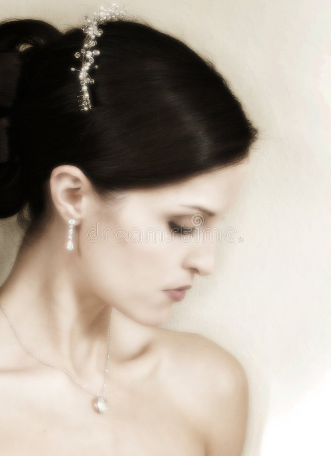 A portrait of a fashion bride royalty free stock photo