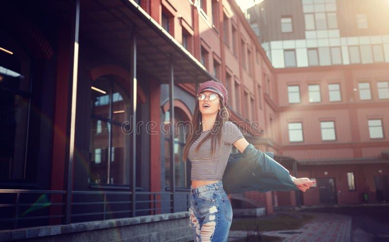 Portrait fashion model girl royalty free stock photo