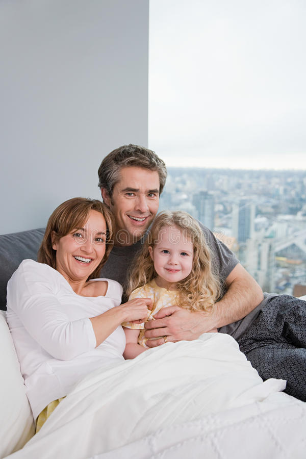 Portrait of a father and daughter stock image