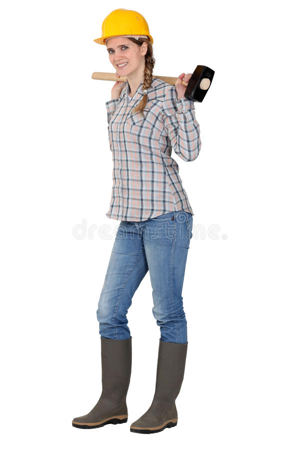 Download Portrait Of Female Carpenter Stock Photo - Image: 27812344