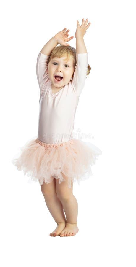 Isolated female child with tutu royalty free stock images
