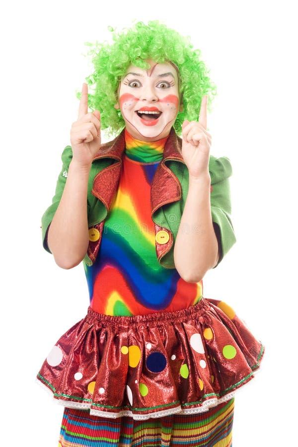 Portrait of female clown