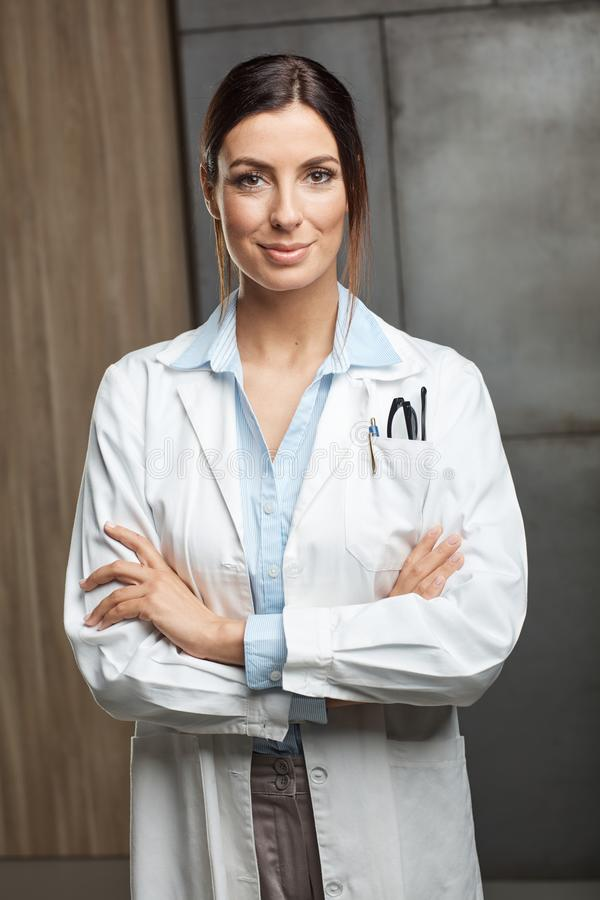 Portrait of female doctor royalty free stock images