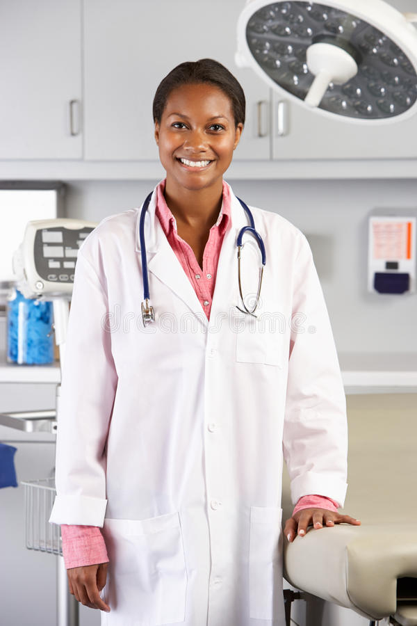 Portrait Of Female Doctor In Doctor's Office royalty free stock images