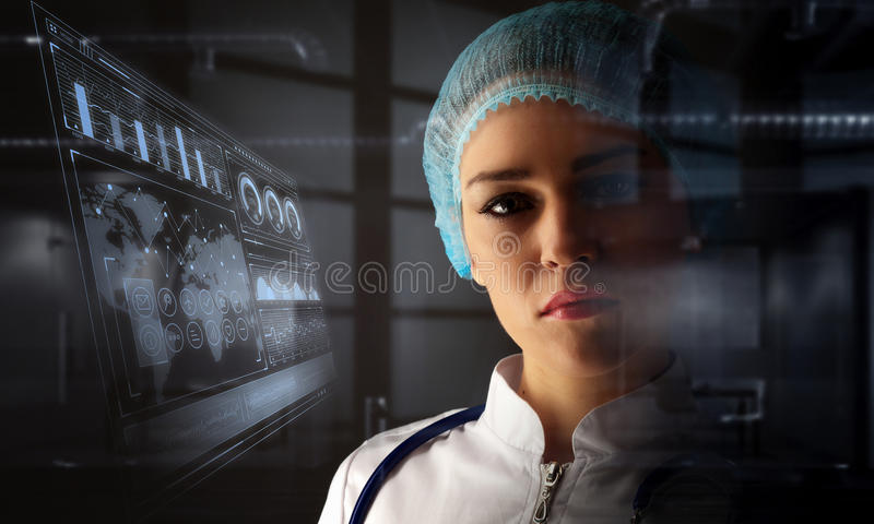 Portrait of female doctor royalty free stock photos