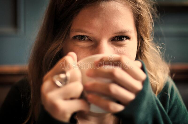Portrait Of Female Drinking From Cup Free Public Domain Cc0 Image
