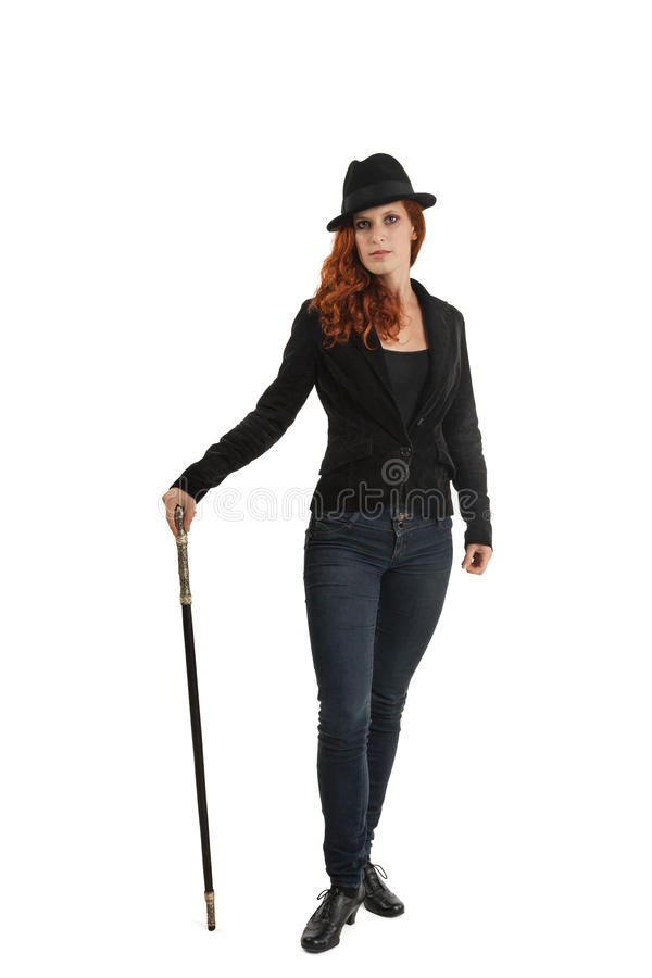 Portrait Of Female Magician stock photography