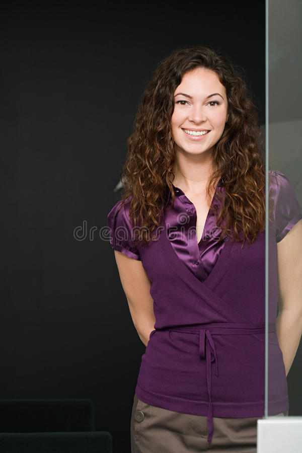 Portrait of a female office worker stock image