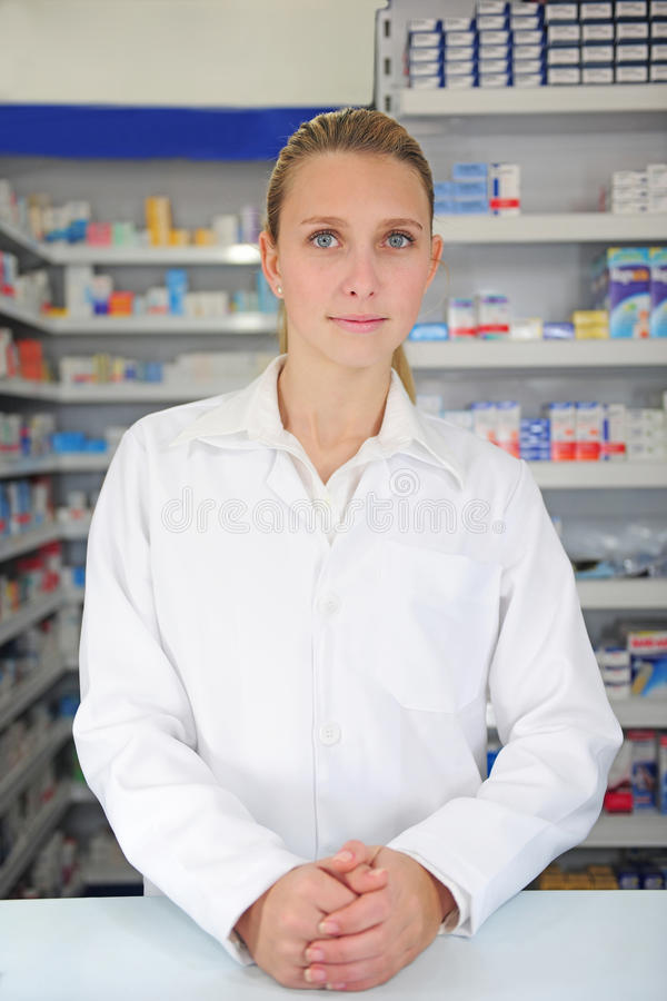Download Portrait Of A Female Pharmacist Royalty Free Stock Image - Image: 10630726