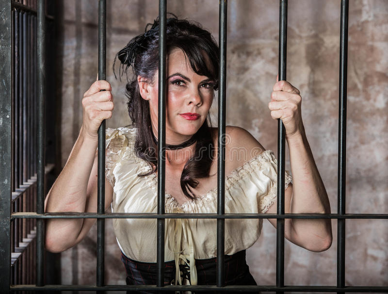 Portrait of Female Prisoner stock photo