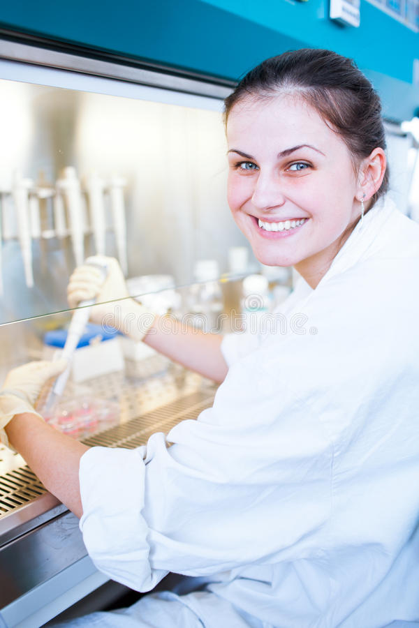 Portrait of a female researcher royalty free stock photography