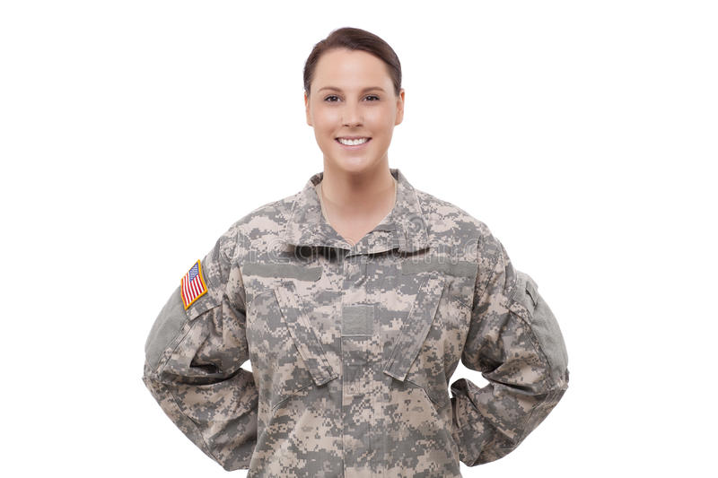 Download Portrait Of A Female Soldier Stock Image - Image: 32010943