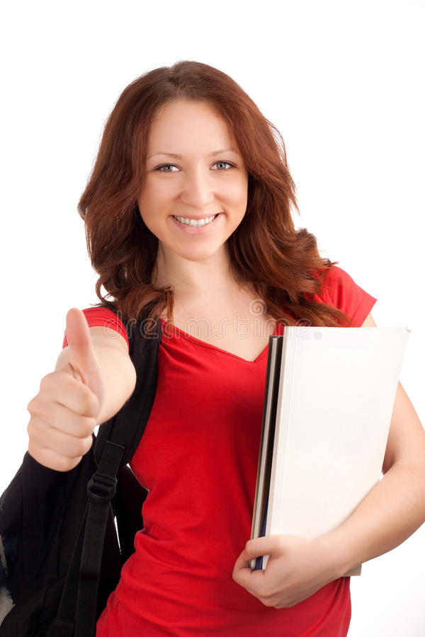 Download Portrait Of Female Student With Books Stock Photo - Image: 30089728