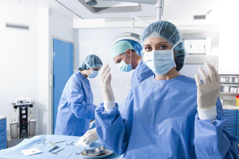 Portrait Of A Female Surgeon Stock Photos